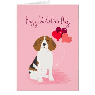 Carte d'amour de jour de Valentines de beagle