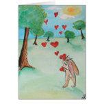 Carte d'amour de lapin de jour de Valentines