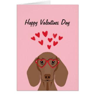 Carte d'amour de Valentines de teckel de Doxie -