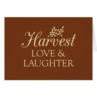 Carte d'amour et de rire de récolte