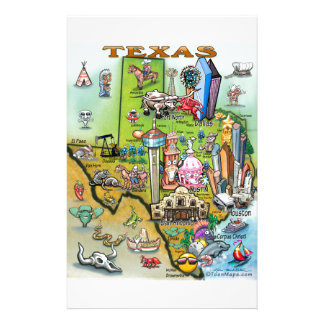 Carte d'amusement du Texas