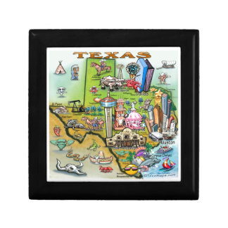 Carte d'amusement du Texas Petite Boîte À Bijoux Carrée