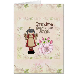 Carte d'ange de grand-maman