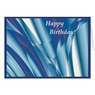 Carte d'anniversaire abstraite de tourbillonnement