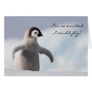 Carte d'anniversaire adorable de pingouin