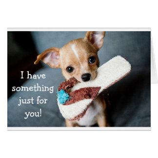 Carte d'anniversaire adorable drôle de chien de