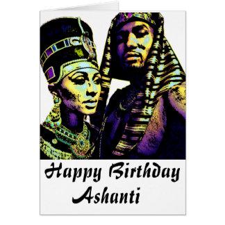 Carte d'anniversaire africaine du Roi Queen Ethnic