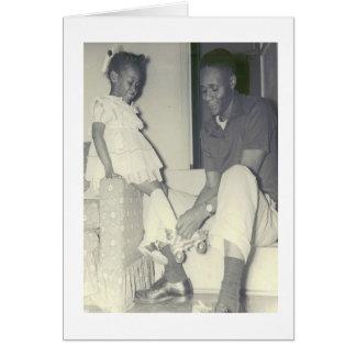 Carte d'anniversaire afro-américaine de père et de