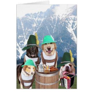 Carte d'anniversaire allemande de chiens drôles