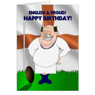 Carte d'anniversaire anglaise et fière de rugby