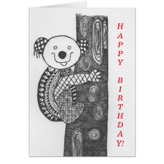 Carte d'anniversaire animale