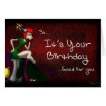 Carte d'anniversaire apathique