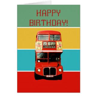 Carte d'anniversaire avec l'autobus de Londres