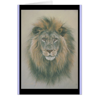 Carte d'anniversaire avec le lion Picure