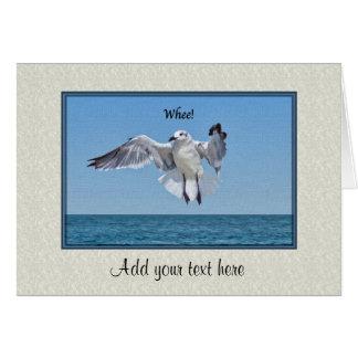 Carte d'anniversaire avec l'oiseau de mouette