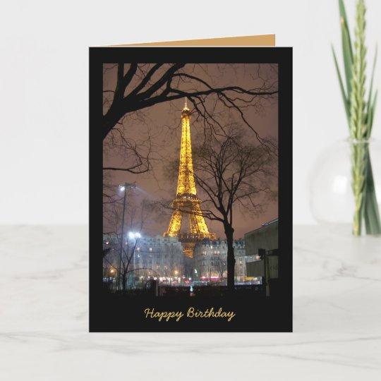 Carte D Anniversaire Avec Tour Eiffel Paris Zazzle Fr