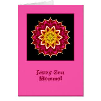 Carte d'anniversaire bariolée de mandala de mamans