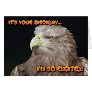 carte d'anniversaire Blanc-coupée la queue d'aigle