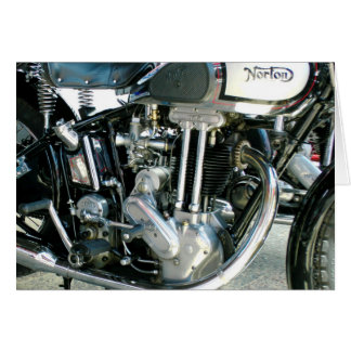 Carte d'anniversaire britannique de moto