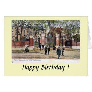 Carte d'anniversaire - Brown University,