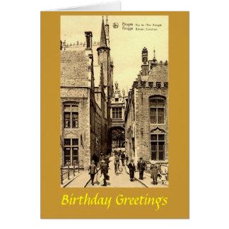 Carte d'anniversaire - Bruges, Belgique