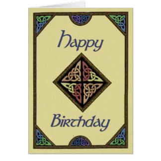 Carte d'anniversaire celtique de conception