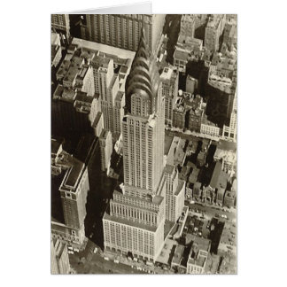 Carte d'anniversaire, Chrysler construisant, NYC