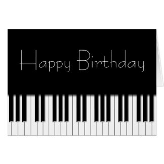 Carte d'anniversaire - clés de clavier de piano