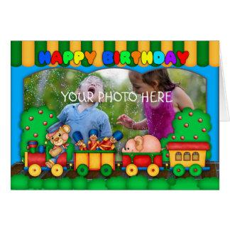 carte d'anniversaire colorée de photo d'amusement