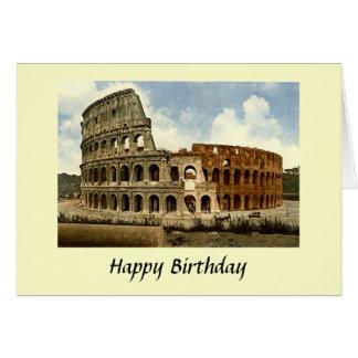 Carte d'anniversaire - Colosseum, Rome