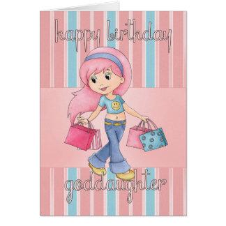 Carte d'anniversaire d'achats de filleule -