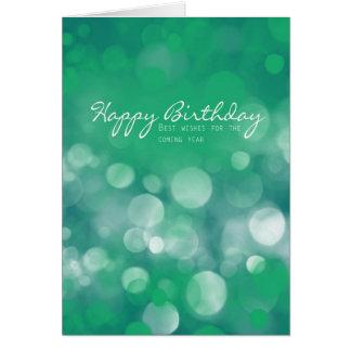 Carte d'anniversaire d'affaires, meilleurs voeux