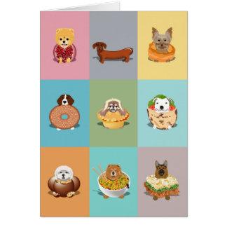 Carte d'anniversaire d'aliments pour chiens