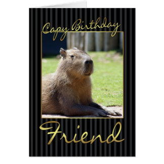 Carte d'anniversaire d'ami avec le Capybara
