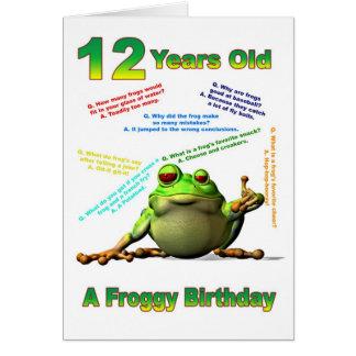 Carte d'anniversaire d'ami de Froggy la 12ème avec