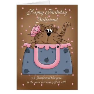 Carte d'anniversaire d'amie - animal familier