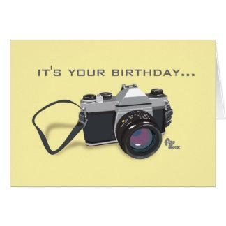 Carte d'anniversaire d'appareil-photo