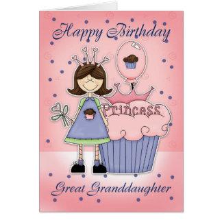 Carte d'anniversaire d'arrière-petite-fille -