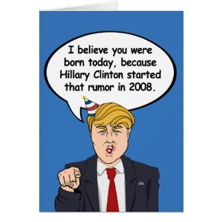 Carte d'anniversaire d'atout - Hillary a commencé