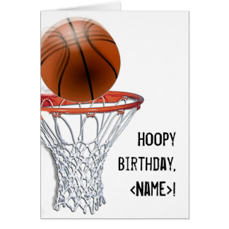 CARTE D'ANNIVERSAIRE DE BASKET-BALL