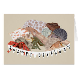 Carte d'anniversaire de bernard l'ermite