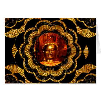 Carte d'anniversaire de Bouddha de bronze de
