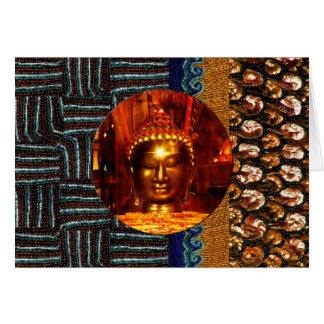 Carte d'anniversaire de Bouddha de paillette