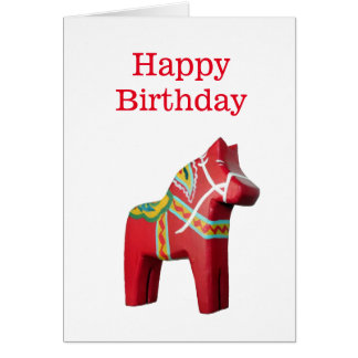 Carte d'anniversaire de cheval de Dala