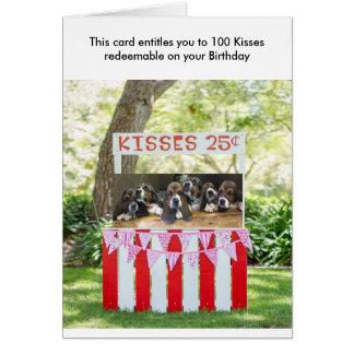 Carte d'anniversaire de chien de basset