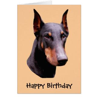 Carte d'anniversaire de chien de visage de