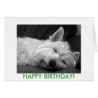 Carte d'anniversaire de chien de Westie