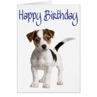 carte anniversaire chien jack russel