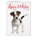 Carte d'anniversaire de chiot de Jack Russell Terr