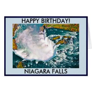 Carte d'anniversaire de chutes du Niagara